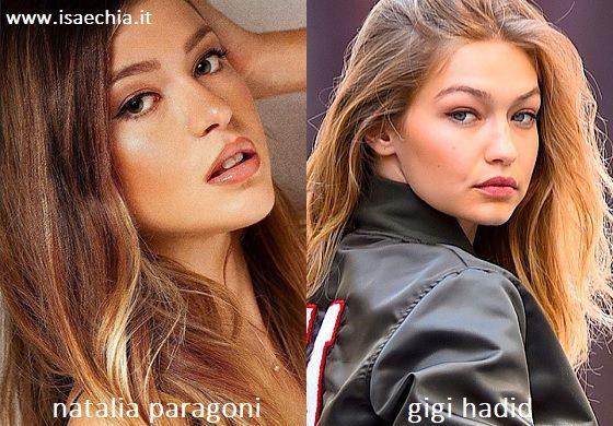 Somiglianza tra Natalia Paragoni e Gigi Hadid