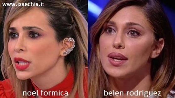Somiglianza tra Noel Formica e Belen Rodriguez