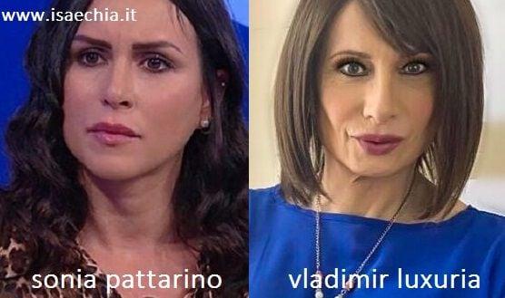 Somiglianza tra Sonia Pattarino e Vladimir Luxuria
