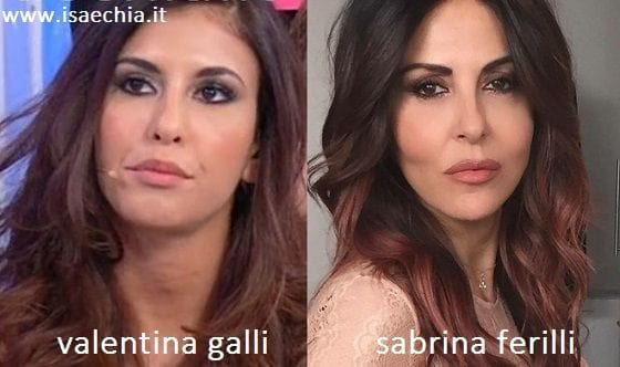 Somiglianza tra Valentina Galli e Sabrina Ferilli