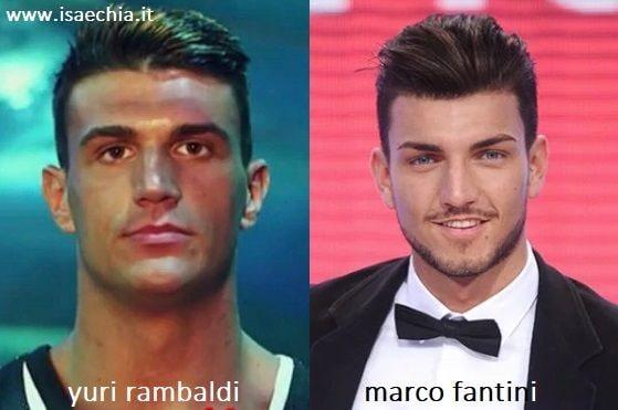 Somiglianza tra Yuri Rambaldi e Marco Fantini
