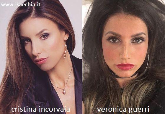 Somiglianza tra Cristina Incorvaia e Veronica Guerri