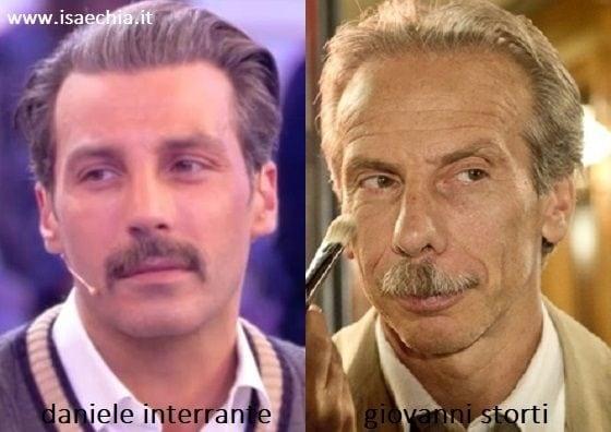 Somiglianza tra Daniele Interrante e Giovanni Storti