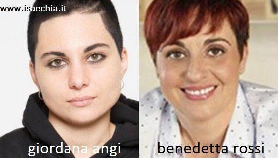 Somiglianza tra Giordana Angi e Bendetta Rossi