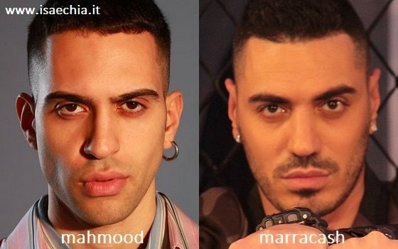 Somiglianza tra Mahmood e Marracash