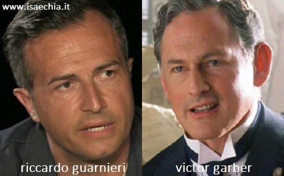 Somiglianza tra Riccardo Guarnieri e Victor Garber