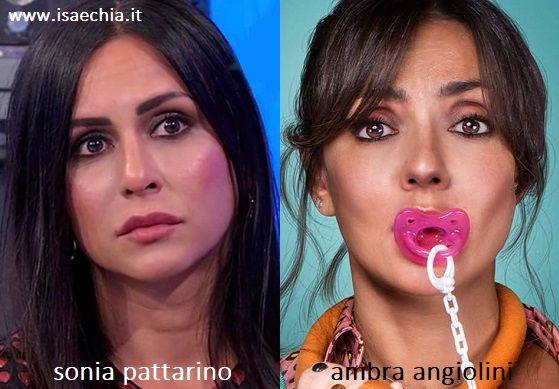 Somiglianza tra Sonia Pattarino e Ambra Angiolini