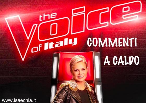 'The Voice of Italy' commenti a caldo