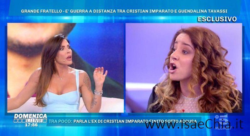 Cristian Imparato e Guendalina Tavassi: è stata sfiorata la rissa