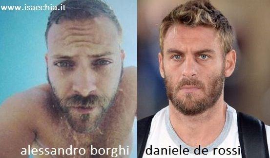 Somiglianza tra Alessandro Borghi e Daniele De Rossi