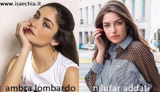 Somiglianza tra Ambra Lombardo e Nilufar Addati