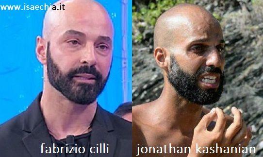 Somiglianza tra Fabrizio Cilli e Jonathan Kashanian
