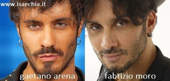 Somiglianza tra Gaetano Arena e Fabrizio Moro