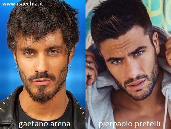 Somiglianza tra Gaetano Arena e Pierpaolo Pretelli
