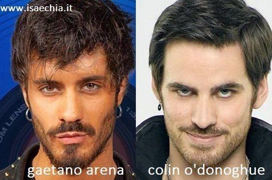 Somiglianza tra Gaetano Arena e Colin O'Donoghue