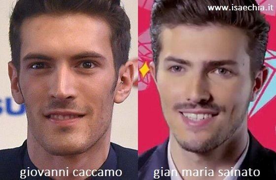 Somiglianza tra Giovanni Caccamo e Gian Maria Sainato