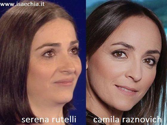 Somiglianza tra Serena Rutelli e Camila Raznovich