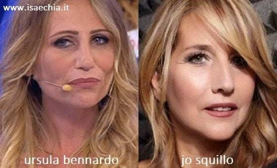 Somiglianza tra Ursula Bennardo e Jo Squillo