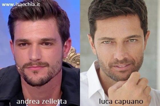 Somiglianza tra Andrea Zelletta e Luca Capuano