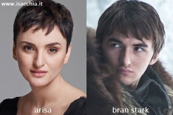 Somiglianza tra Arisa e Bran Stark di 'Games of Thrones'