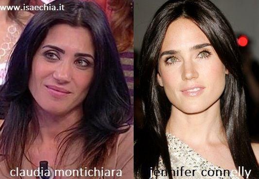 Somiglianza tra Claudia Montichiara e Jennifer Connelly