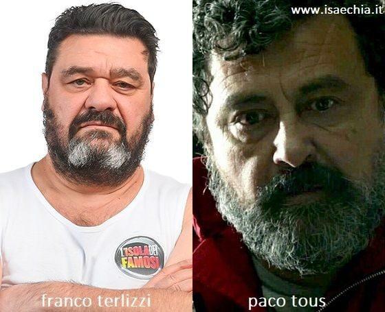 Somiglianza tra Franco Terlizzi e Mosca de 'La Casa di Carta'