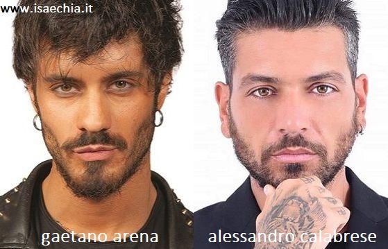 Somiglianza tra Gaetano Arena e Alessandro Calabrese