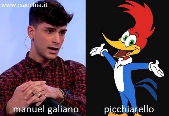 Somiglianza tra Manuel Galiano e Picchiarello
