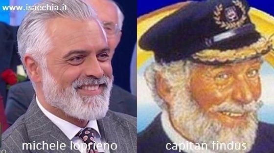Somiglianza tra Michele Loprieno e Capitan Findus