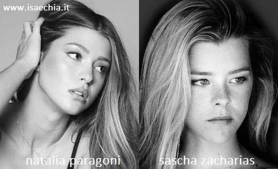 Somiglianza tra Natalia Paragoni e Sascha Zacharias