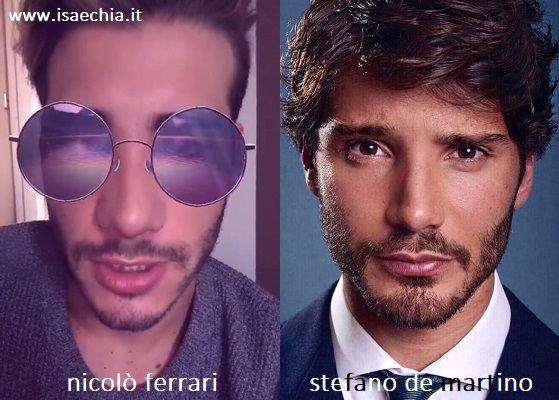 Somiglianza tra Nicolò Ferrari e Stefano De Martino