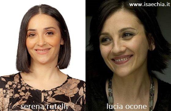 Somiglianza tra Serena Rutelli e Lucia Ocone