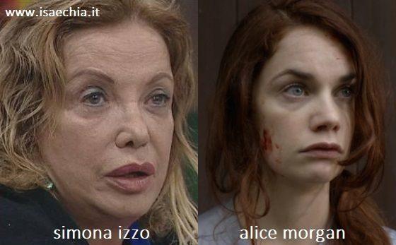 Somiglianza tra Simona Izzo e Alice Morgan di 'Luther'