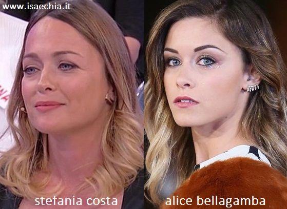 Somiglianza tra Stefania Costa e Alice Bellagamba