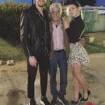 Andrea Zelletta e Natalia Paragoni con Nonno Peppe