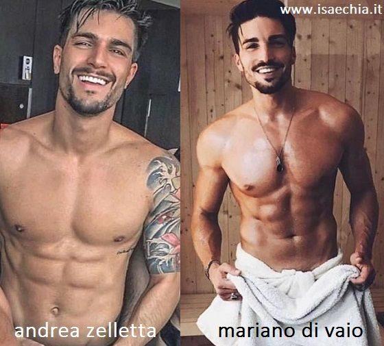 Somiglianza tra Andrea Zelletta e Mariano Di Vaio
