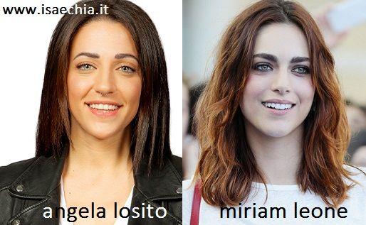 Somiglianza tra Angela Losito e Miriam Leone