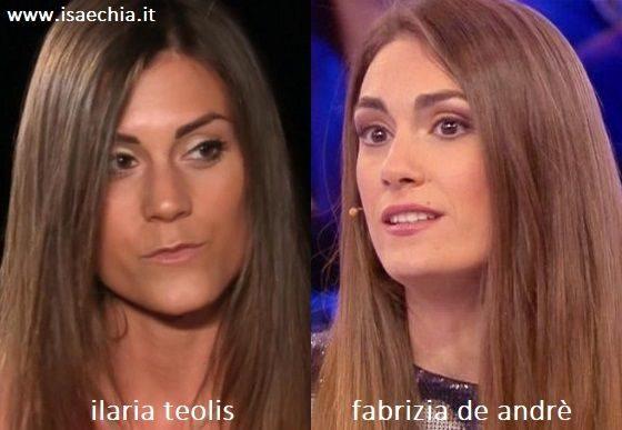 Somiglianza tra Ilaria Teolis e Fabrizia De Andrè
