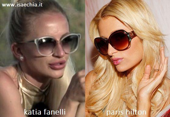Somiglianza tra Katia Fanelli e Paris Hilton