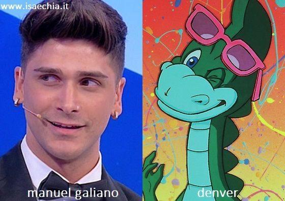 Somiglianza tra Manuel Galiano e Denver di 'Ti voglio bene Denver'