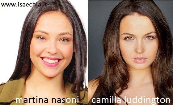 Somiglianza tra Martina Nasoni e Camilla Luddington