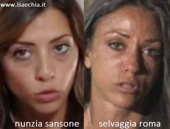 Somiglianza tra Nunzia Sansone e Selvaggia Roma