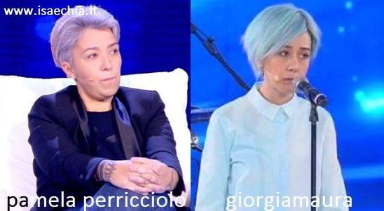 Somiglianza tra Pamela Perricciolo e Giorgiamaura
