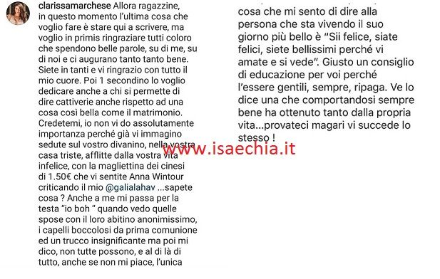 Francesco Chiofalo silura Clarissa Marchese: