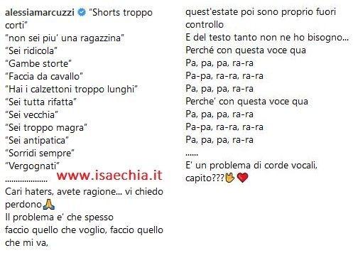 Alessia Marcuzzi contro il body shaming: