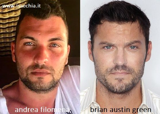 Somiglianza tra Andrea Filomena e Brian Austin Green