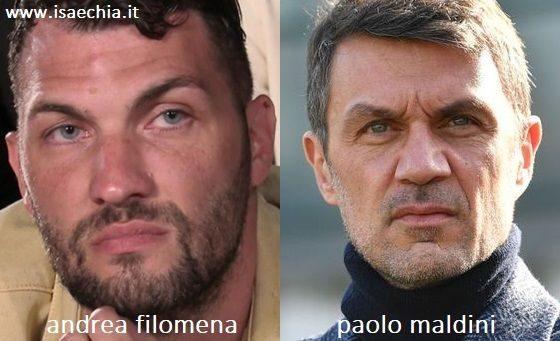 Somiglianza tra Andrea Filomena e Paolo Maldini