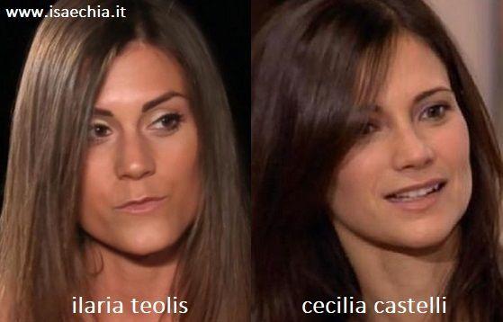 Somiglianza tra Ilaria Teolis e Cecilia Castelli di 'CentoVetrine'