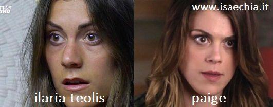 Somiglianza tra Ilaria Teolis e Paige