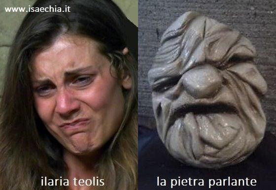 Somiglianza tra Ilaria Teolis e la pietra parlante di 'Fantaghirò'